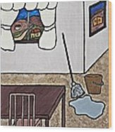 Essence Of Home - Mop And Bucket Wood Print
