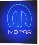 Mopar Neon Sign Wood Print