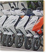Moped City Wood Print