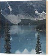 Morain Lake Wood Print
