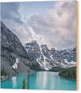 Moraine Cloud Burst Wood Print by Jon Glaser