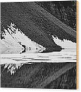 Moraine Lake Abstract - Black And White #2 Wood Print