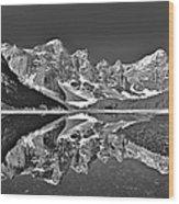 Moraine Lake - Black And White Wood Print