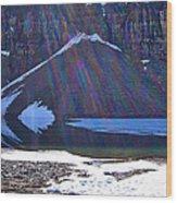 Moraine Lake Lens Flare Wood Print