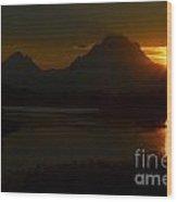 Moran Sunset Wood Print