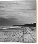 More Beach Tracks Wood Print
