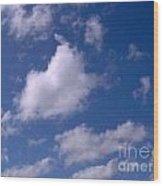 More Clouds Wood Print