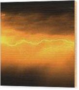 More Late Night Servere Nebraska Storms Wood Print
