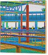 More Lines In Colors Wood Print