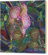 More Orchids Wood Print by Doris Wood
