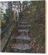 More Stairs Wood Print