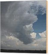 More Strong Cells Moving Over South Central Nebraska Wood Print