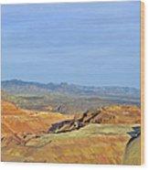 Morenci - A Beauty Of A Copper Mine Wood Print