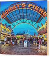 Moreys Piers In Wildwood Wood Print
