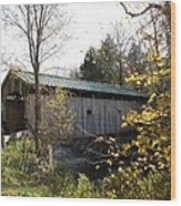 Morgan Bridge Belvidere Junction Vermont Wood Print