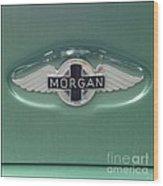 Morgan Car Emblem Wood Print