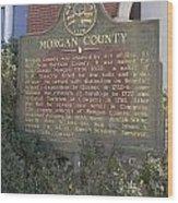 Morgan County Wood Print