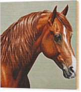 Morgan Horse - Flame Wood Print
