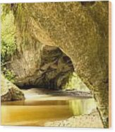 Moria Gate Arch In Opara Basin On South Island Of Nz Wood Print