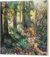 Moring Hike Wood Print
