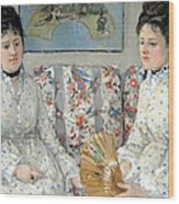 Morisot's The Sisters Wood Print