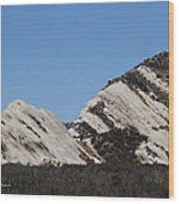 Morman Rocks Wood Print