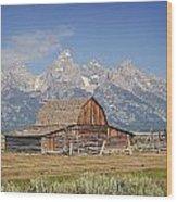 Mormon Barn 2 Wood Print by Marty Koch