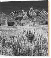 Mormon Barn Wood Print