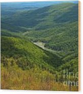 Moormans River Overlook In Spring Wood Print