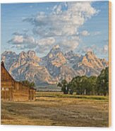 Mormon Row Farm Wood Print
