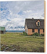 Mormon Row Historic District In Grand Tetons National Park-wyoming Wood Print