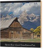 Mormon Row Poster Wood Print