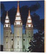 Mormon Temple Lds Utah Wood Print