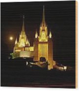 Mormon Temple Wood Print