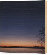 morn on the Susquehanna  Wood Print