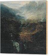 Morning Amongst The Coniston Fells Wood Print