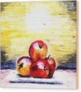 Morning Apples Wood Print