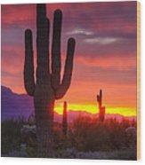 Morning Arizona Style  Wood Print