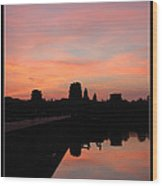Morning At Angkor Wat Wood Print