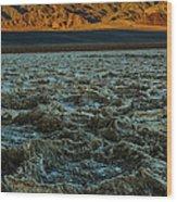 Morning At Badwater Wood Print