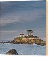 Morning At Battery Point Lighthouse Wood Print