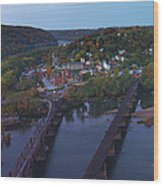 Morning At Harpers Ferry Wood Print