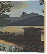 Morning At Lake Mcdonald Glacier Park Wood Print