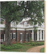 Morning At Monticello Wood Print