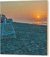 morning at  Myrtle Beach South Carolina Wood Print