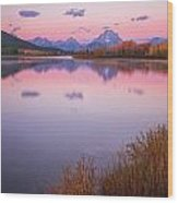 Morning At Oxbow Bend Wood Print