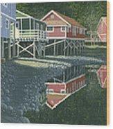 Morning At Telegraph Cove Wood Print