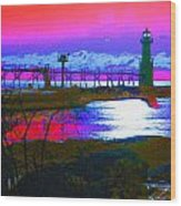 Morning At The Algoma Light An Abstract Wood Print