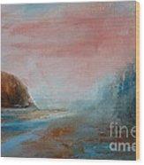 Morning At The  Beach Wood Print