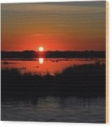 Morning At The Marsh Wood Print